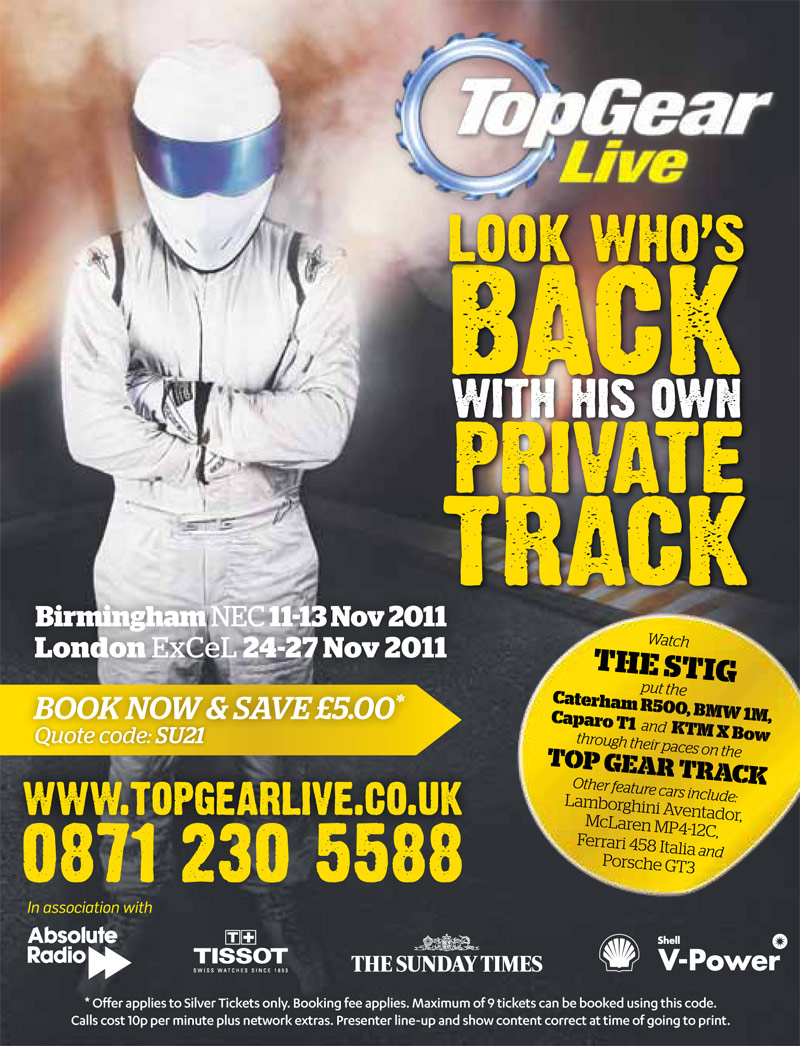 Poster design freelance - Print Advertising Design For Top Gear Live